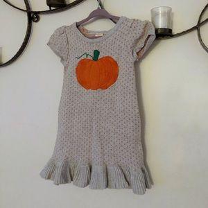 Gymboree Polka Dot Pumpkin Sweater Dress